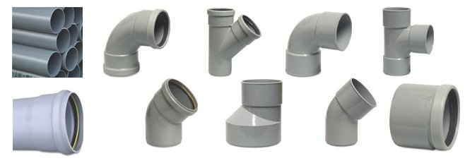 ring seal drainage pipe and fittings