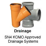 KOMO approved drainage and soil pipe systems