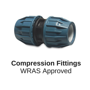 PP Compression Fittings for polyethylene alkathene piping with wras approval