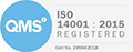 ISO14001 Certificate for Plastic Pipe Shop Ltd