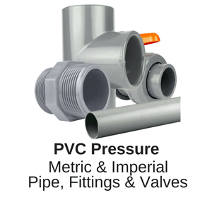 Pressure Pipe and Fittings manufactured from PVC PVCU or UPVC for water and fluid transfer up to 16 bar WRAS approval