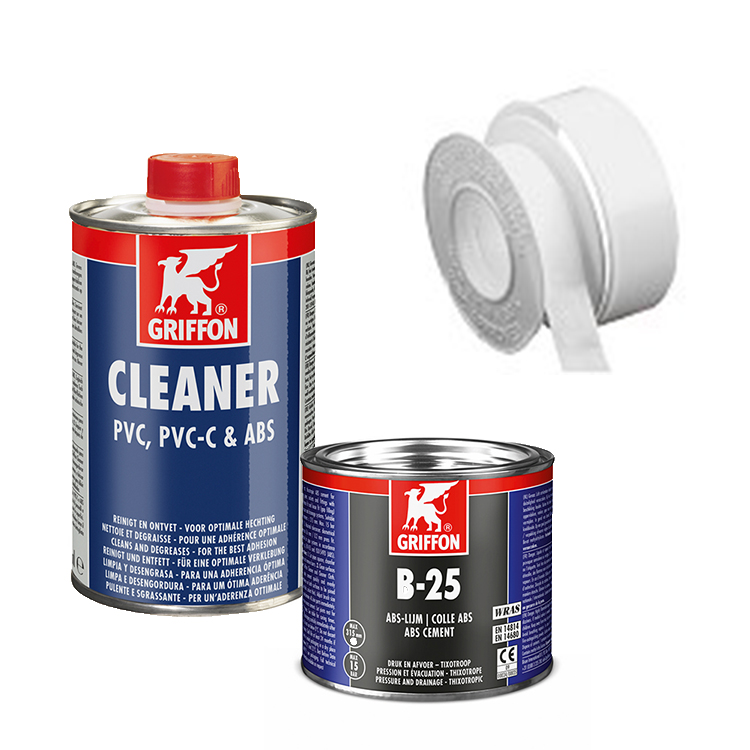 ABS Cement, Cleaner, PTFE tape etc
