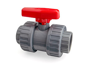 Inch ABS Double Union Ball Valve, EPDM