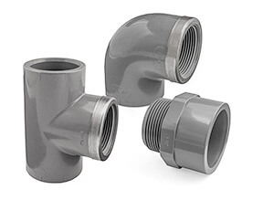 Inch Plain to Threaded ABS Fittings