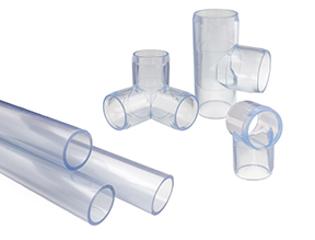 Clear PVC Pipe System