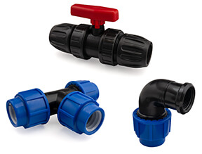 WRAS Approved PP Compression Fittings for PE Pipe