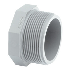 1/2 Inch CPVC NPT male threaded Plug