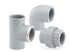 Metric Plain to Threaded CPVC Corzan Fittings