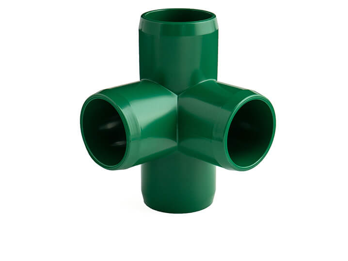 3/4 Inch Green 4-Way Elbow