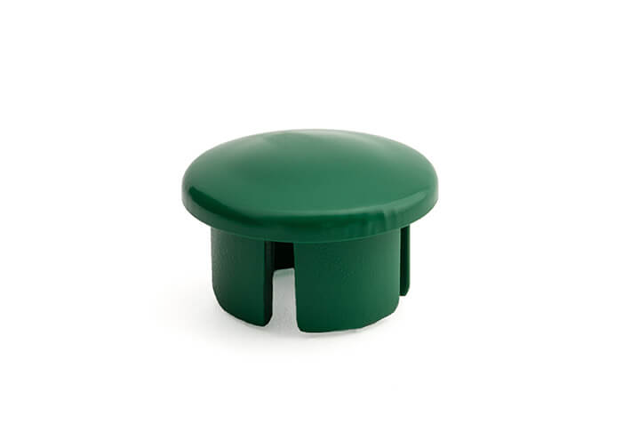 3/4 Inch Green Dome Cap