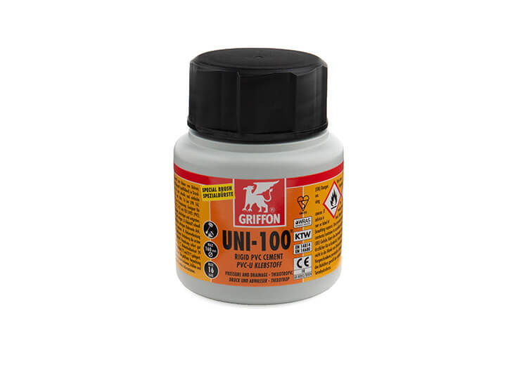 Griffon Uni-100 PVC Cement 125ml bottle with brush