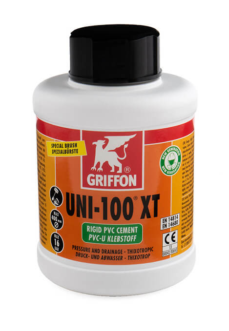 Griffon Uni-100XT THF Free, PVC Cement 500ml with brush