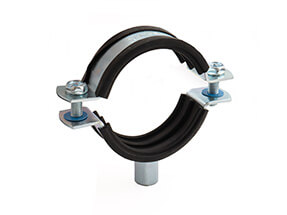 Rubber Lined Bossed BZP Pipe Clamp