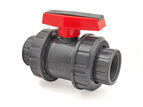 Inch PVC Threaded Double Union Ball Valve EPDM