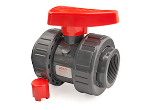 Inch PVC Threaded Industrial Double Union Ball Valve EPDM