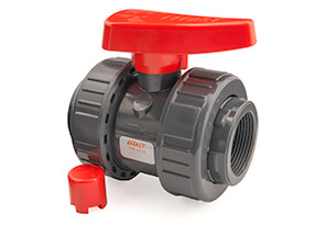 Inch PVC Threaded Industrial Double Union Ball Valve FPM