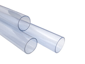 Metric Clear PVC Pipe 2.5m Length