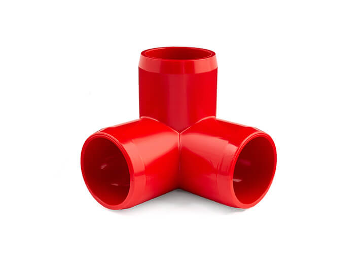 3/4 Inch Red 3-Way Elbow