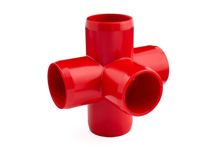 3/4 Inch Red 5-Way Elbow
