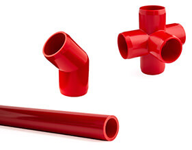 Red Furniture PVC Pipe and Fittings
