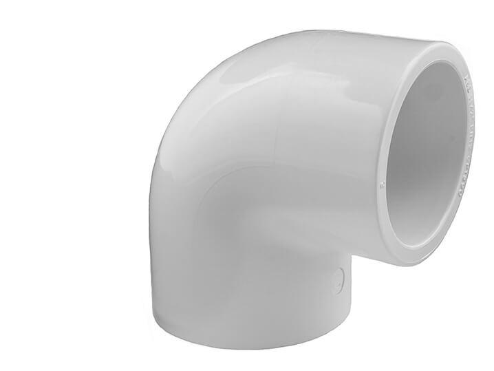 White PVC Pool Pipe| 1 1/2 Inch 90 degree elbow