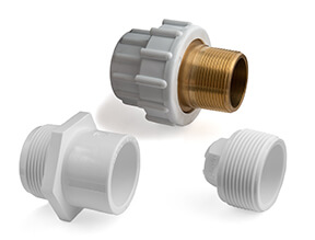 White PVC Inch Threaded Fittings for Swimming Pools