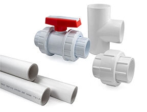 White Inch (Sch40) PVC Fittings and Valves