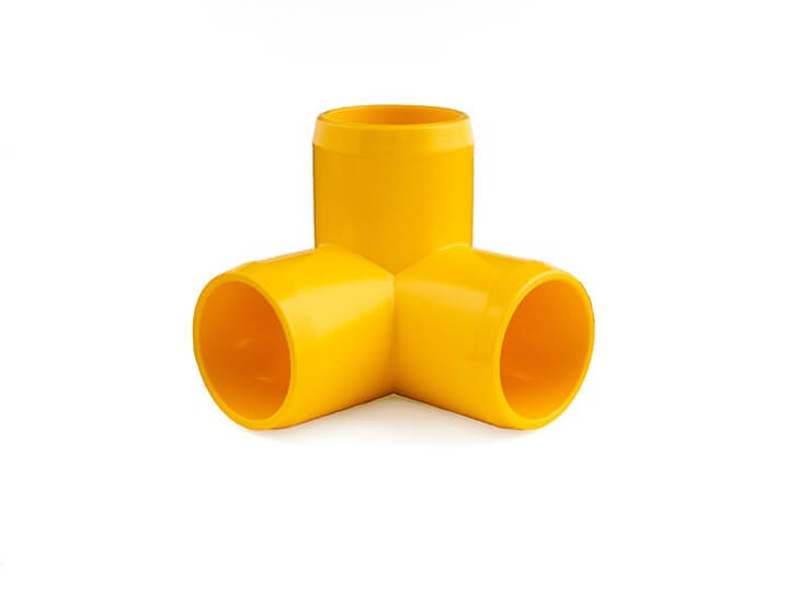 3/4 Inch Yellow 3-Way Elbow