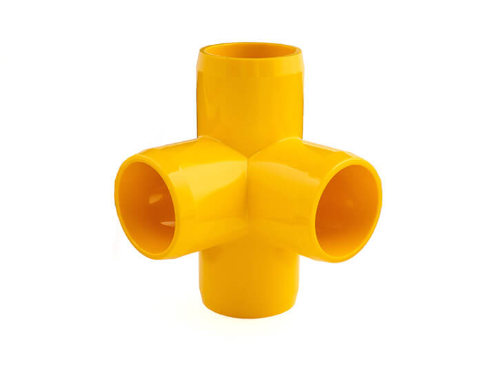 3/4 Inch Yellow 4-Way Elbow