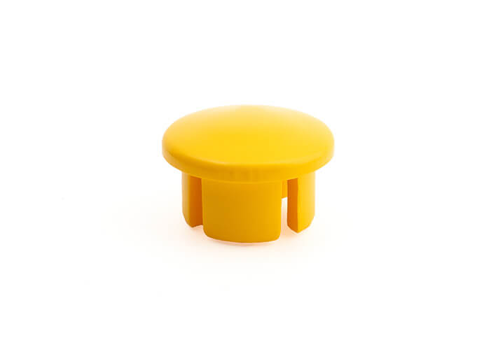 3/4 Inch Yellow Dome Cap
