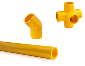 Yellow Furniture PVC Pipe and Fittings