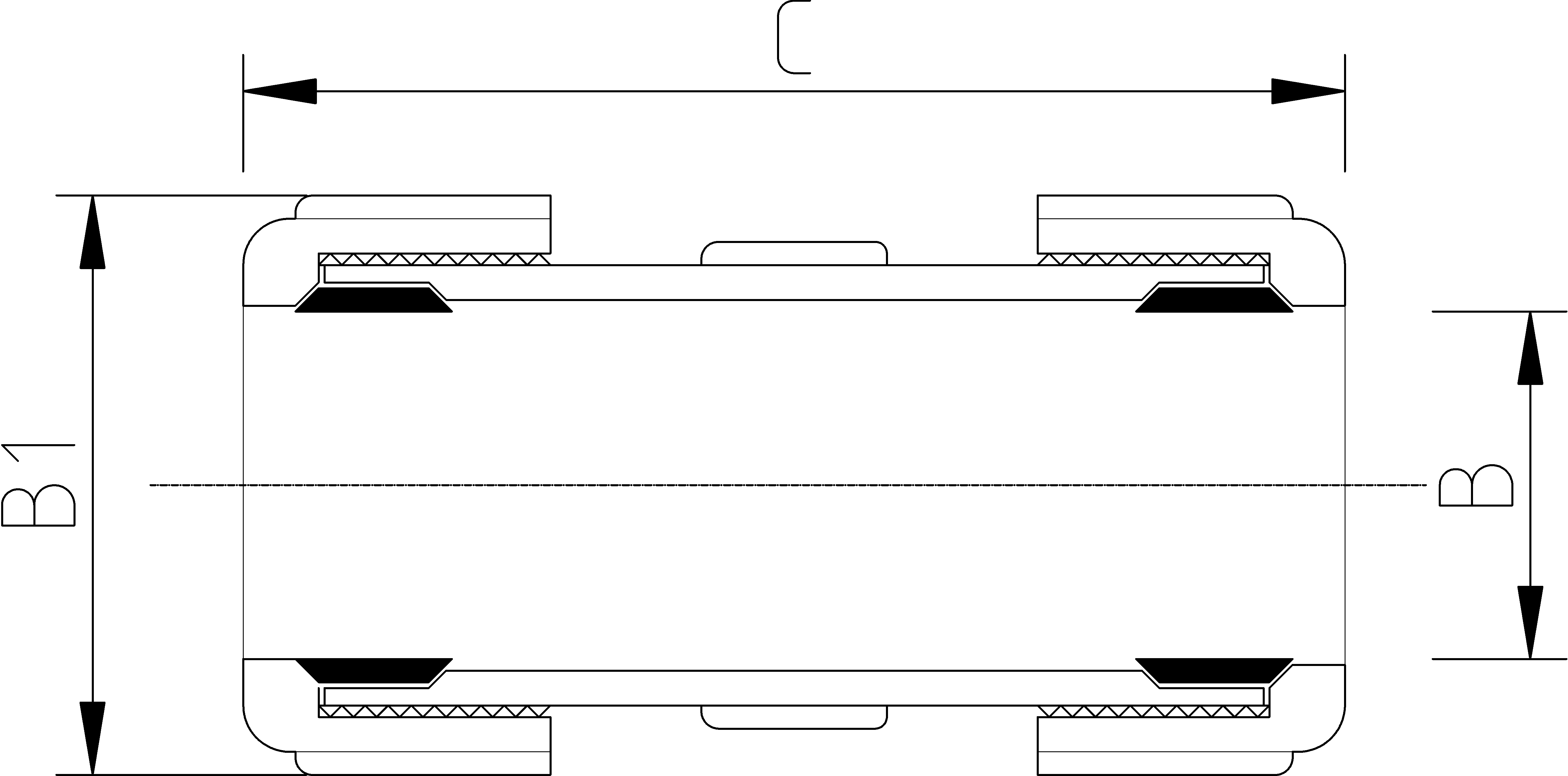 4 Inch Compression Repair Coupler Dimensions Drawing