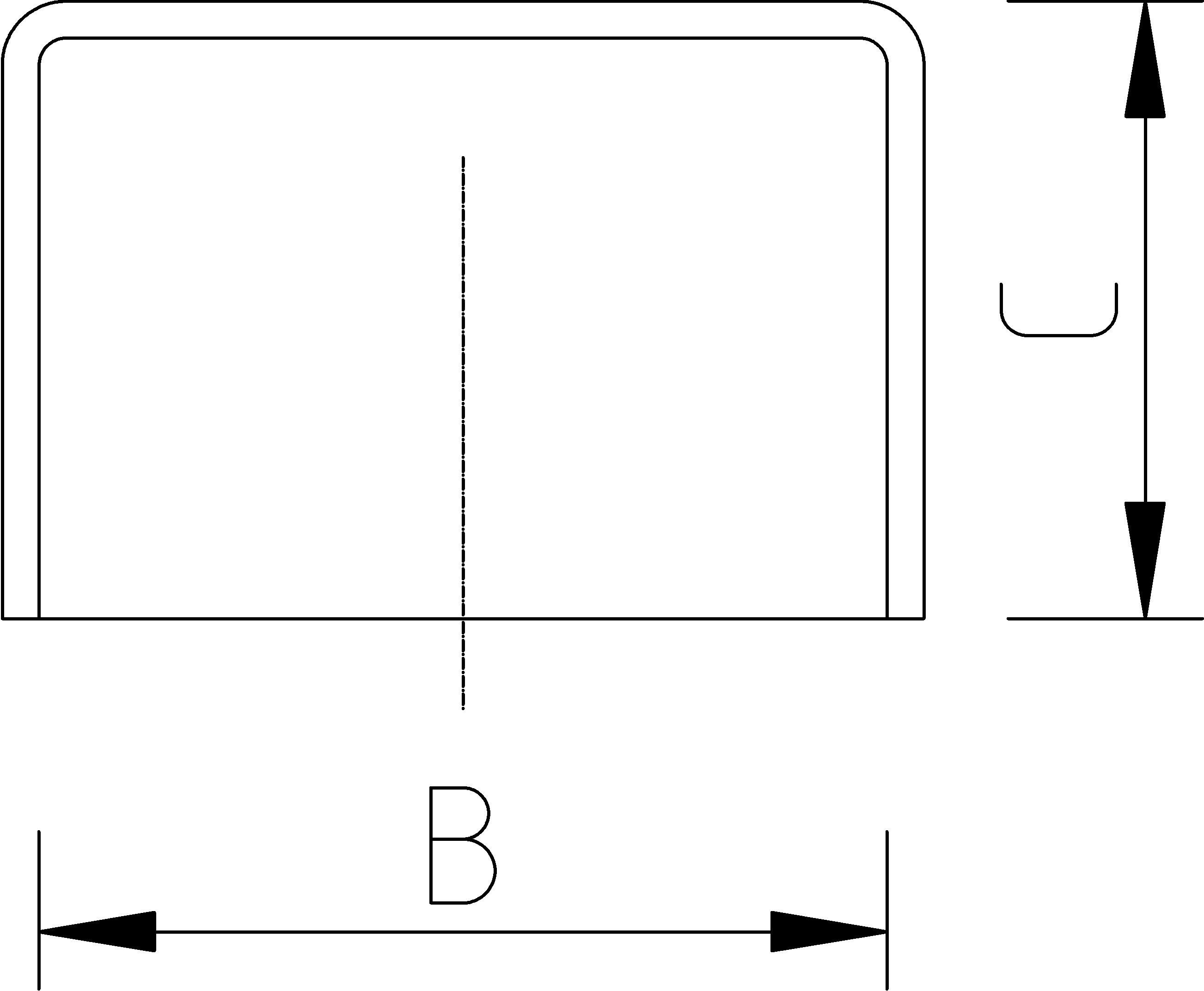 160mm End Cap Dimensions Drawing