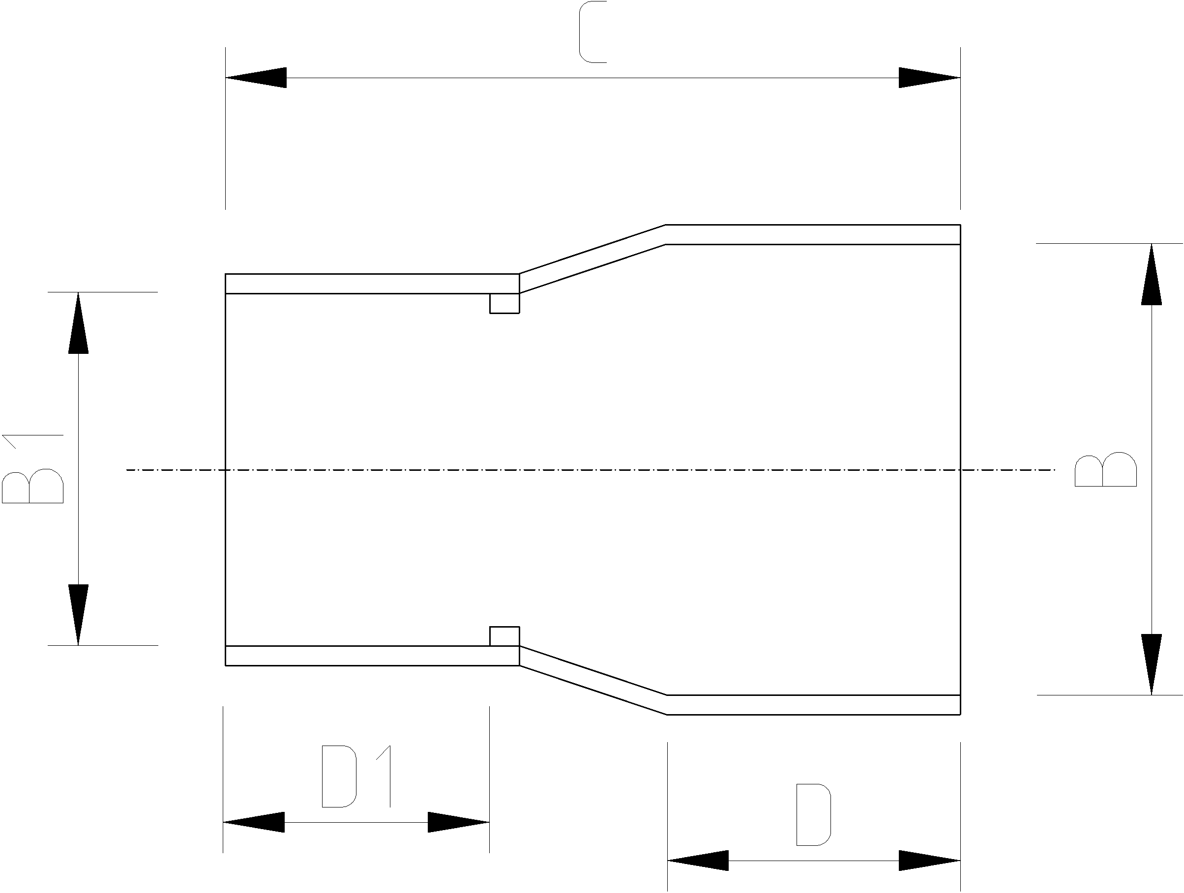 1 1/2 to 1 1/4 Inch Reducing Socket Dimensions Drawing