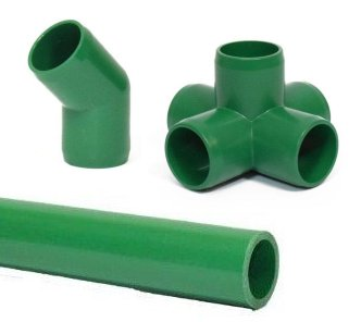 Green Pipe and Fittings