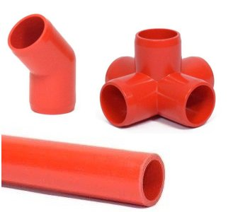 Red Pipe and Fittings