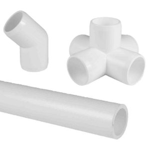 White Pipe and Fittings