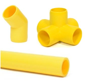 Yellow Pipe and Fittings