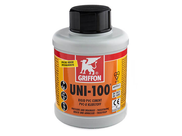 Griffon Uni-100 PVC Cement 500ml bottle with brush