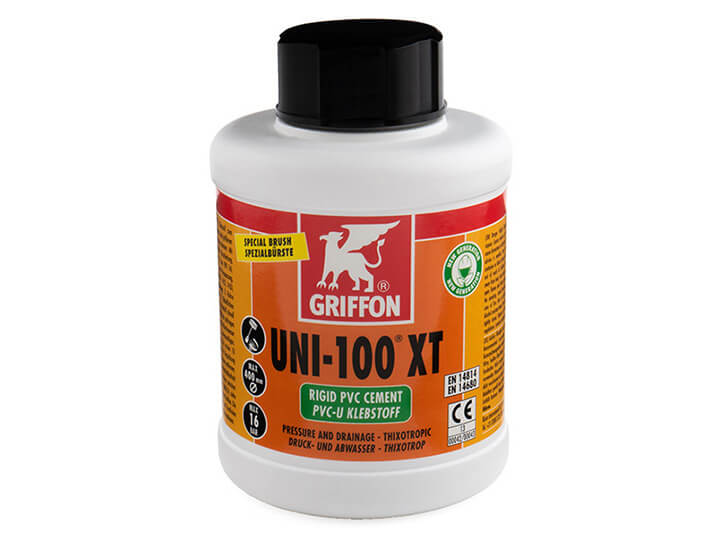 Griffon Uni-100XT THF Free PVC Cement 500ml with brush