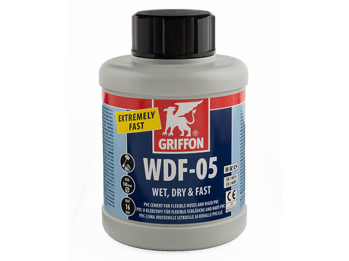 Griffon WDF-05 Fast Setting PVC Cement 500ml bottle with brush