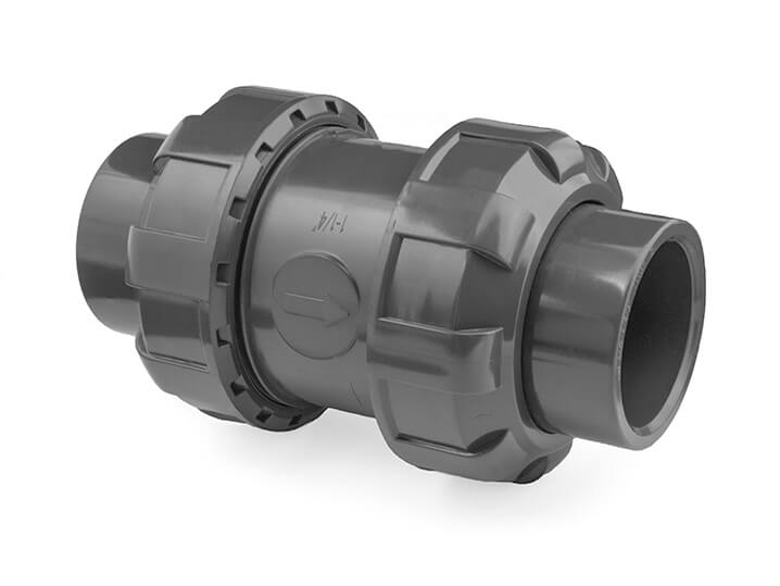1 inch pvc double union foot check valve no spring. Black Bedroom Furniture Sets. Home Design Ideas