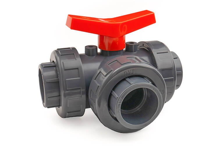 20mm 3 Way Ball Valve L-Port EPDM O-Rings