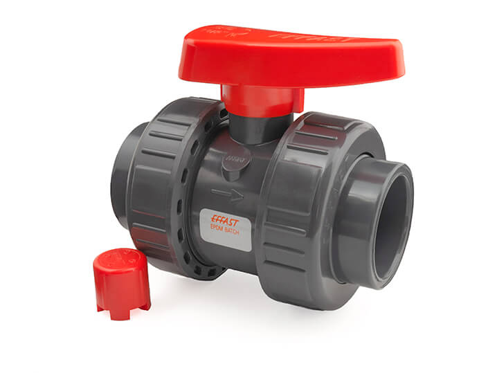 20mm Industrial Double Union PVC Ball Valve EPDM O-Rings