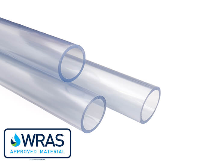 1/2'' x 1.0m Length Clear PVC Pipe OD =21.4mm