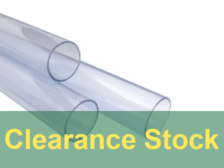 160mm Clear PVC Pipe (Thin Wall) 1m Length