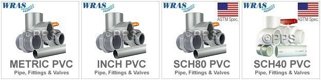 pvc plastic pipe fittings and valves