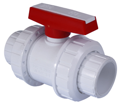 White SCH40 PVC Inch Plain Valves