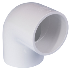 White SCH40 PVC Inch Plain Fittings