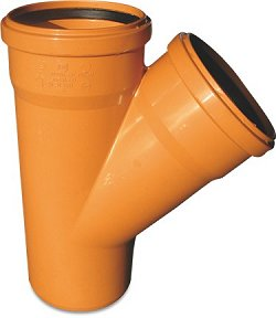 Brown-Orange Drainage Pipe & Fittings